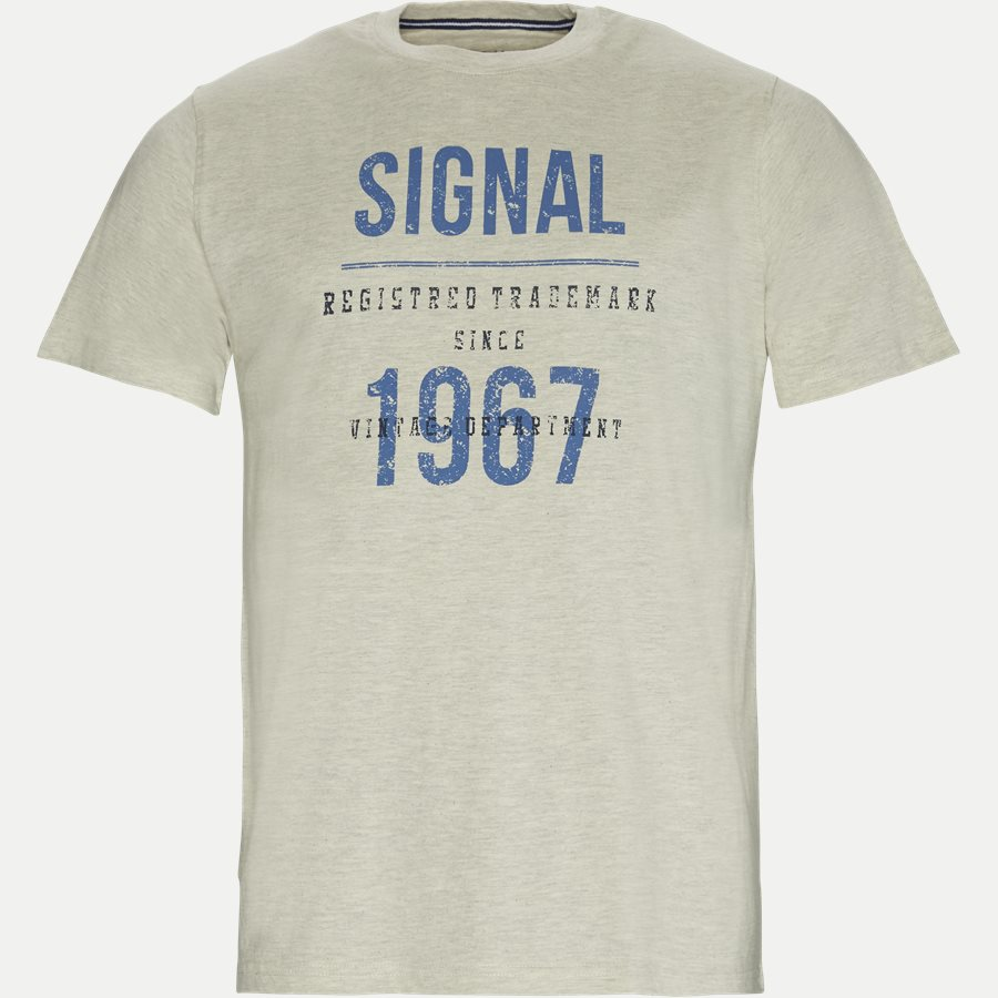 SHANE - Logo T-shirt - T-shirts - Regular - HVID MELANGE - 1